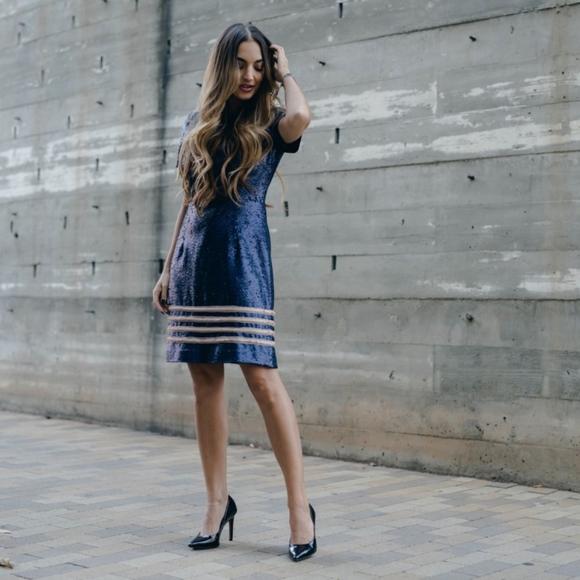 Tommy Hilfiger Tommy Hilfiger Sequin Dress Gigi Hadid Navy Blazer S from Tommy Hilfiger | more